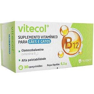 Suplemento Cão e Gato Vitecol Caixa com 30 comprimidos