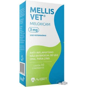Anti-Inflamatorio Mellis Vet Cão 15 A 30kg 3mg