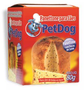 Panettone Pet Dog Cão Sabor Carne
