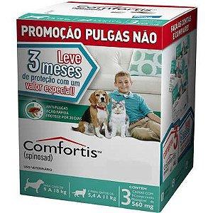 Antipulga Comfortis Cao E Gato 560mg Caixa Com 3 Comprimidos
