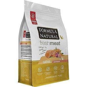 Ração Fórmula Natural Fresh Meat Gato Adulto Castrado Salmão 7Kg