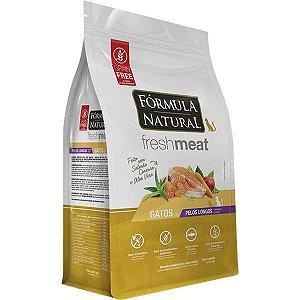 Ração Fórmula Natural Fresh Meat Gato Adulto Pelo Longo 7Kg
