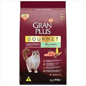 Ração Gran Plus Gato Gourmet Adulto Castrado Frango e Arroz 10,1kg