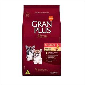 Ração Gran Plus Menu Cão Filhote Raça Pequena Frango e Arroz 10,1Kg