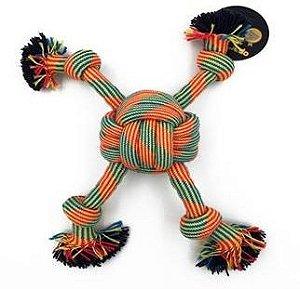 Brinquedo Bom Amigo Cão Corda Bola 4 Pontas