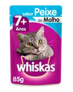 Sachê Whiskas Gato Adulto 7+ Peixe 85g