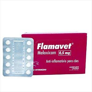 Anti-Inflamatório Flamavet 0,5mg Blister Com 10 Comprimidos