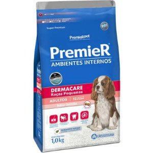 Ração Premier Ambientes Internos Cão Adulto Raça Pequena Dermacare 12kg