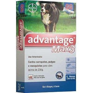 Antipulga Advantage Max3 Acima 25kg 4ml Gg Caixa Com 1 Bisnaga