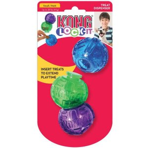 Brinquedo Interativo Kong Lock-it 3-PK Small