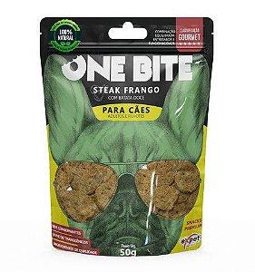 Snack One Bite Cão Steak Frango 50g