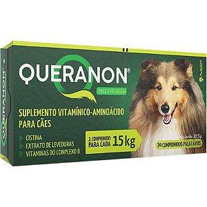 Suplemento Queranon Cão 15kg - 30 Comprimidos Palátaveis