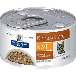 Lata Hill's Prescription Diet Gato K/D Renal Frango e Vegetais 82g