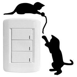 Adesivo Interrruptor 2 gatinhos