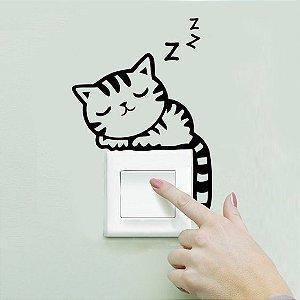 Adesivo Interruptor Gatinho Dormindo