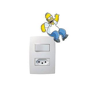 Adesivo Interruptor Simpsons Sentado