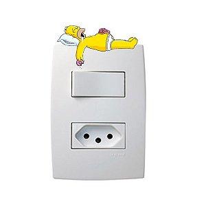 Adesivo Interruptor Simpson deitado