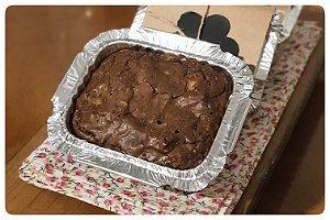 Brownie de chocolate meio amargo com castanha do Pará