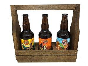 KIT Cherokee 3 Cervejas + Caixa Madeira