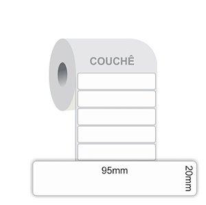 Etiquetas Adesivas Couchê 95x20mm caixa com 4 rolos