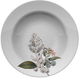 Prato Fundo de Porcelana Capri - Bela Botânica - Germer