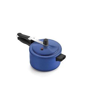 Panela de Pressão Antiaderente Azul/Preto 2,5 L - Luz Nobre