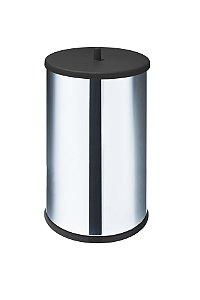 Lixeira em Inox 9,1 L c/ tampa e fundo preto - Martinazzo