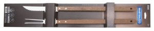 Jogo de Churrasco com cabo longo em madeira - 2 peças - Mart