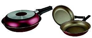 Omeleteira Antiaderente Multiuso Cereja/Creme 18cm - Luz Nob