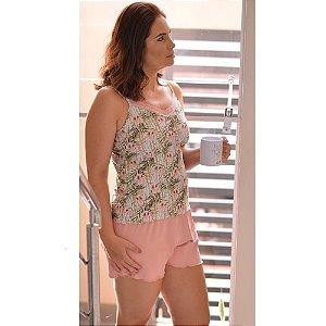 Short Doll Poli Flor Rosê H06
