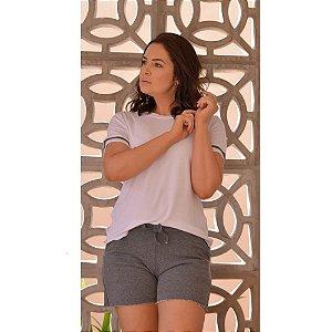 Short Doll Clésia Branco Mescla H09