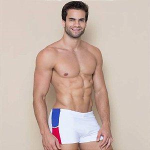 Sunga Boxer Branco Recorte Lateral 3010