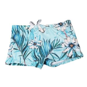 Sunga Boxer Kids Azul Flor Branca 3017