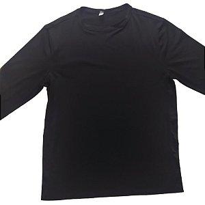 Camisa Com Proteção Solar Adulto Preto 6008