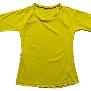 Camisa Com Proteção Solar Adulto Feminino Amarelo 6007