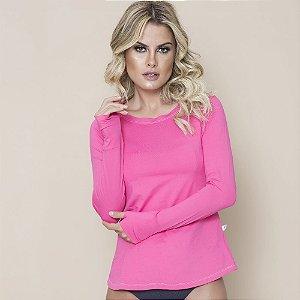 Camisa Com Proteção Solar Adulto Feminino Pink 6007