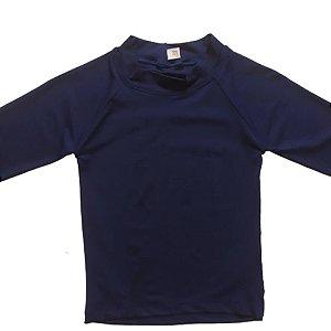 Camisa Com Proteção Solar Infantil Marinho 6010