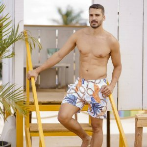 Short Masculino Tactel Estampa Cordas 3013