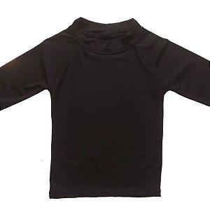 Camisa Com Proteção Solar Infantil Preto 6010