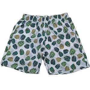 Short Masculino Tactel Cinza Costela Adão Verde 3013