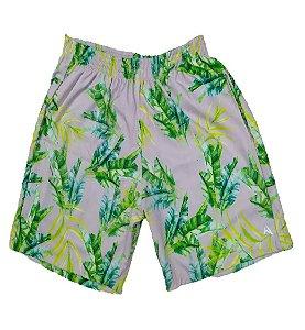 Short Masculino Tactel Cinza com Verde 3013