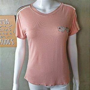 Tshirt Casual Rosê 14064