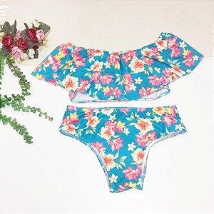 Biquíni Infantil Floral 8021