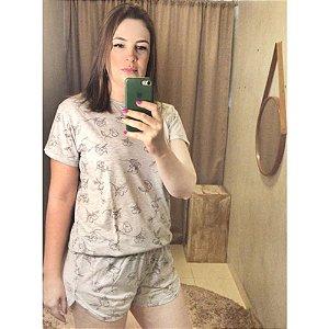 Pijama Nathália Mescla Flor H10