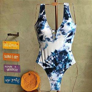 Maiô Body Tie Dye Azul 4103