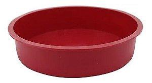 Yangzi Carol Fioretino Forma de Silicone Redonda Vermelha