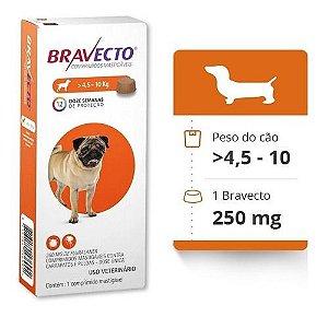 Bravecto 250mg  /  4,5 a 10Kg