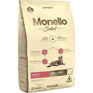 Monello Ração Select Gatos Carne e Fígado 2KG