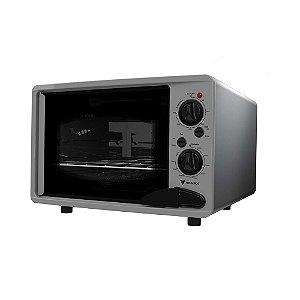 Venax forno elétrico Luxo 45L cinza com inox