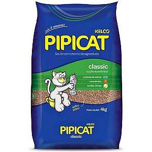 Pipicat Areia para Gatos Classic S/ Perfume 4KG